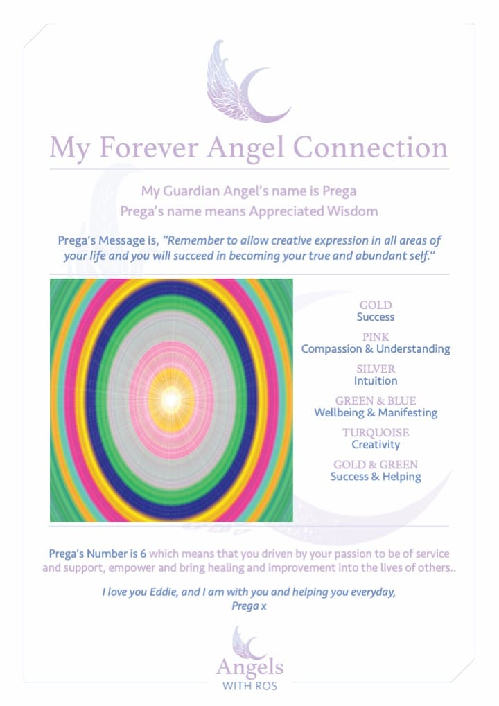Guardian Angel Forever Connection Certificate